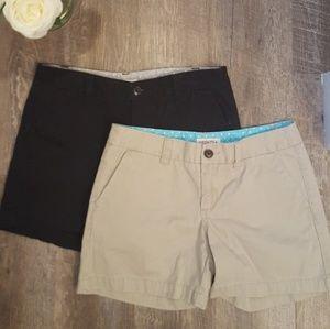Merona Tan & Black Shorts Size 2